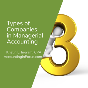 Types of Companies in Managerial Accounting